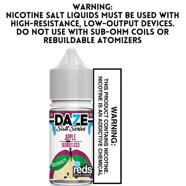 7 DAZE SALT SERIES - RED'S APPLE BERRIES ICED (30ML)