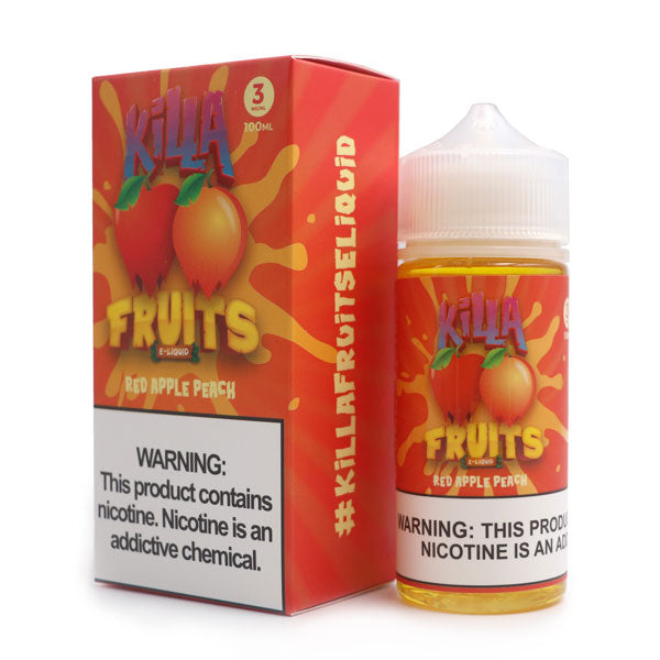 KILLA FRUITS – RED APPLE PEACH (100ML)