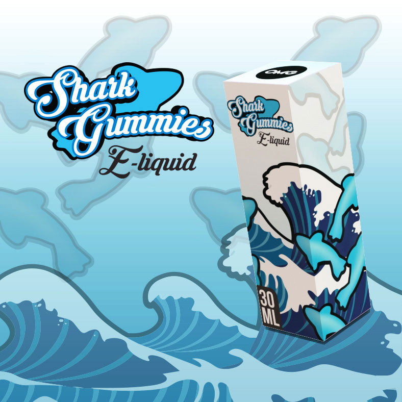 SHARK GUMMIES ELIQUID - BLUE SHARK GUMMIES