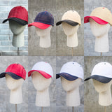 Two-tone faded hat color options