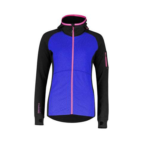 Mons Royale Womens Ascend Midi Full Zip Hood - Midlayer