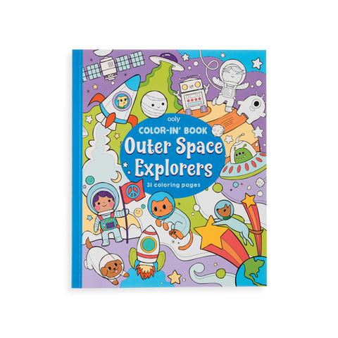 Color-in' Book Outer Space Explorers