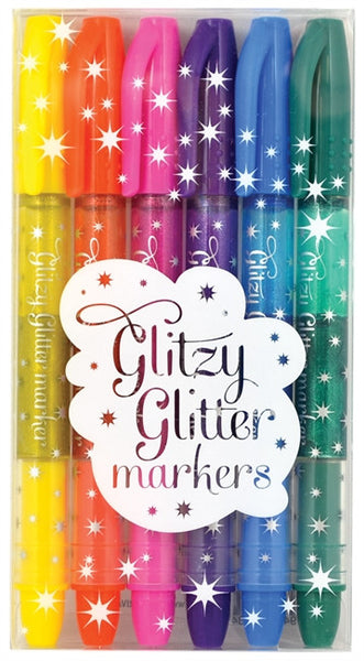 Glitzy Glitter Markers Set of 6