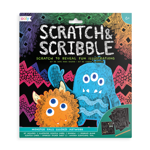 Scratch & Scribble Monster Pals Art Kit
