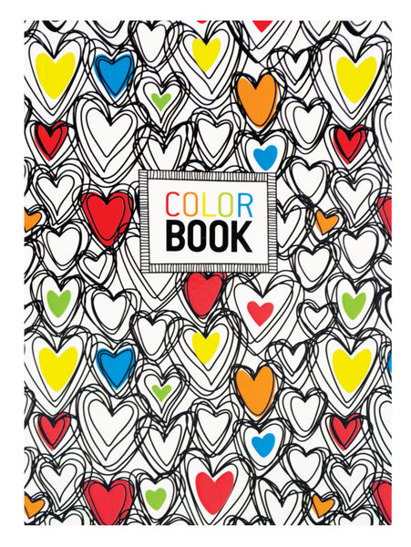 Make Notes Color Book Hearts