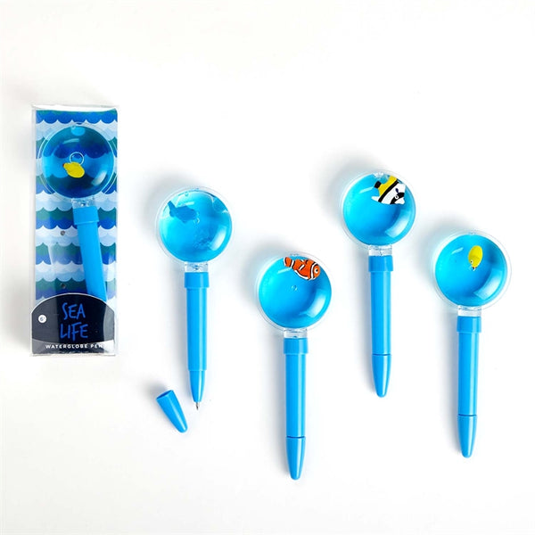 Sea Life Water Globe Pen *Pick Your Design*
