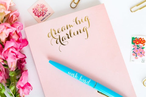 Taylor Elliott Designs Dream Big Darling Notepad with Magnet