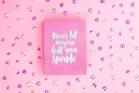 Taylor Elliott Designs Never Let Anyone Dull Your Sparkle Notebook