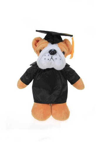 Plushland Graduation Bulldog [Black]