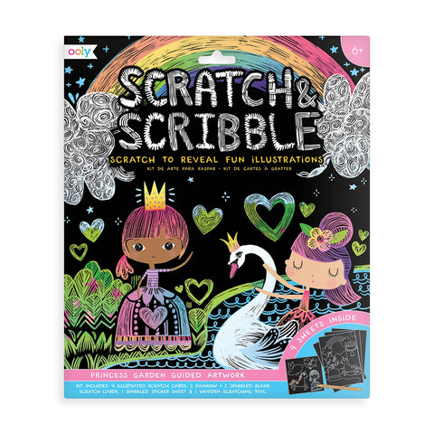 Scratch & Scribble Princess Garden Art Kit