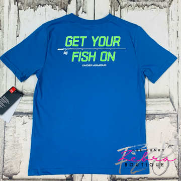 Under Armour Youth Get Your Fish On Tee Size S & M