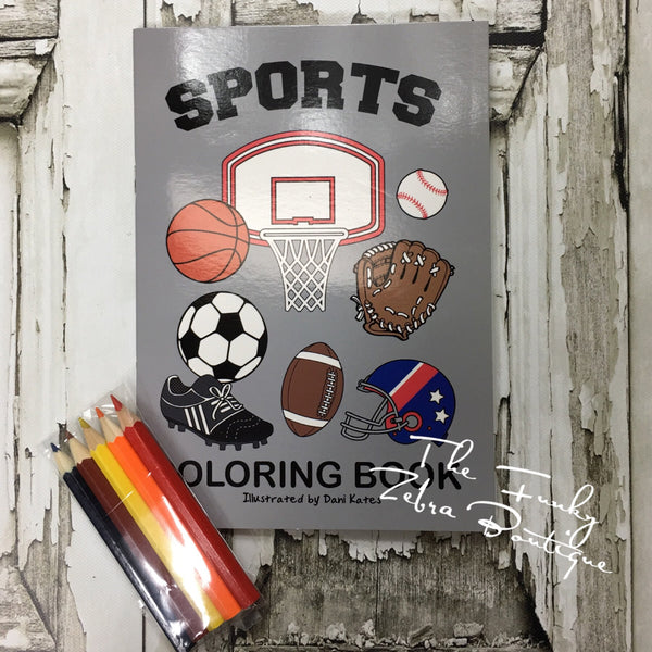 Mini Coloring Book Sports