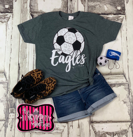 Eagles Soccer Kids Tee Size 2/3, 4/5, 6/8, 10/12, 12/14