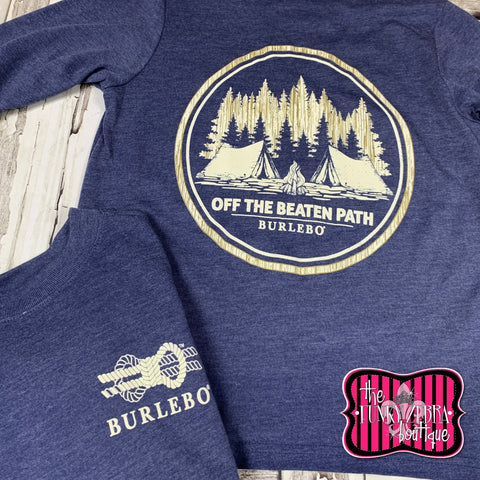 Burlebo Off The Beaten Path Long Sleeve Tee Size 4/6, 8, 10/12, 14/16