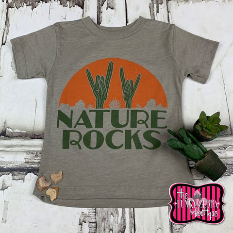 Nature Rocks Tee Size 2T-8