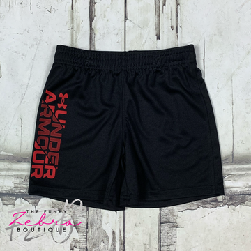 Under Armour Boys Red & Black Prototype Short Size 3T, 4T, 7