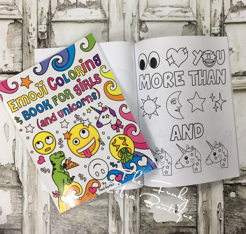 Coloring Book Emoji Coloring Book For Girls And Unicorns The