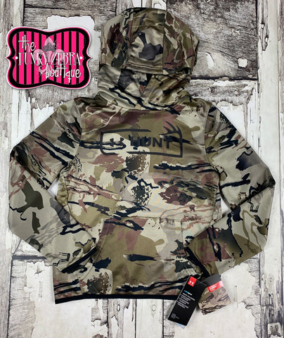 Under Armour Youth Boys Camo Hunt Logo Hoodie Barren Reaper Size S-XL