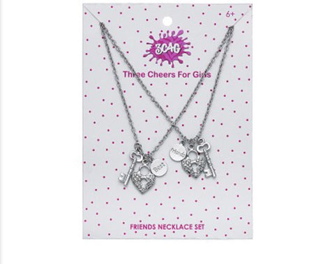 Best Friend Lock & Key Necklace Set