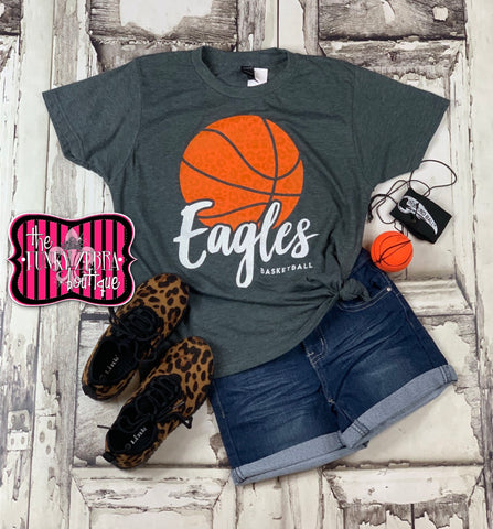Eagles Basketball Kids Tee Size 2/3, 4/5, 6/8, 10/12