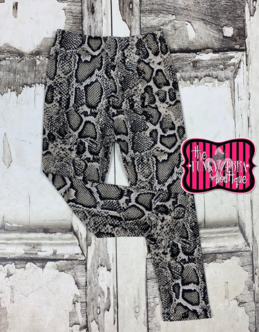 Snake Print [Tan] Leggings Size 4/5, 6/8, 8/10