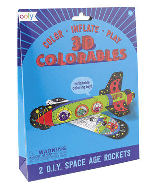 3D Colorables Space Age Rockets