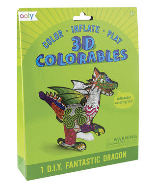 3D Colorables Fantastic Dragon