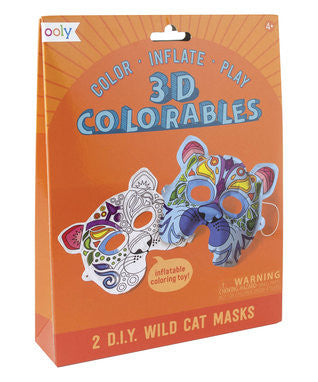 3D Colorables Wild Cat Masks