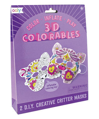 3D Colorables Creative Critter Masks