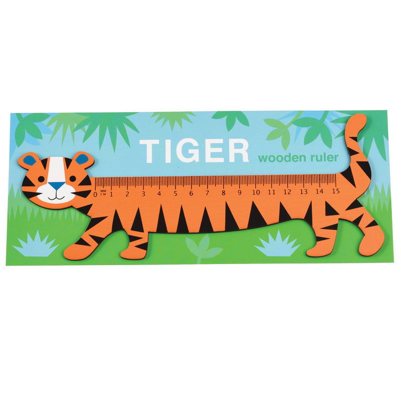 Rex London tiger wooden ruler