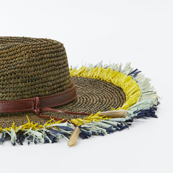 Naturellement handcrafted natural straw hat Anais