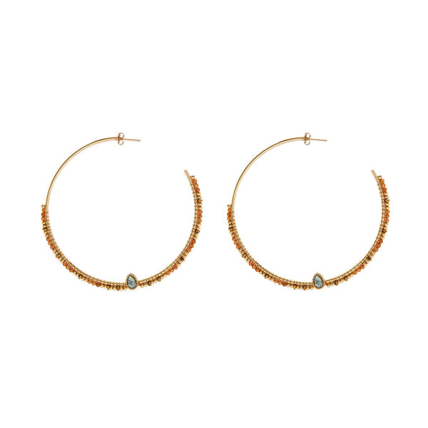 Angkor large hoops earrings Hipanema