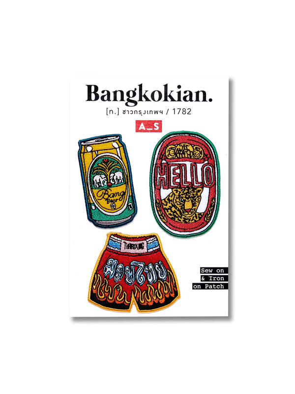 Bangkokian patch set cheer muay exclusive collection