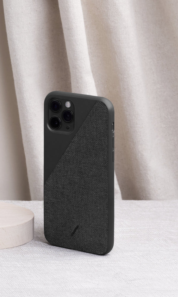 Native Union Clic Canvas iPhone Case Black