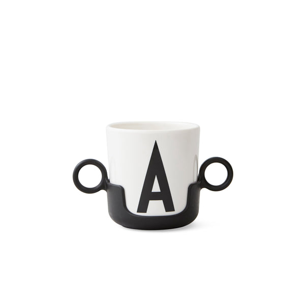 Design Letters Cup handle, Black