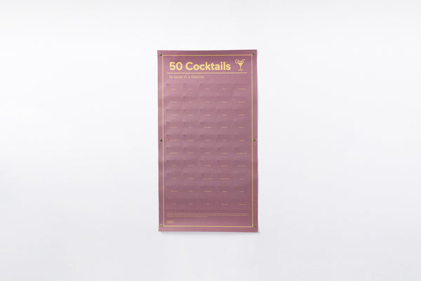 DOIY Must-Do Poster - 50 Cocktails to taste in a lifetime