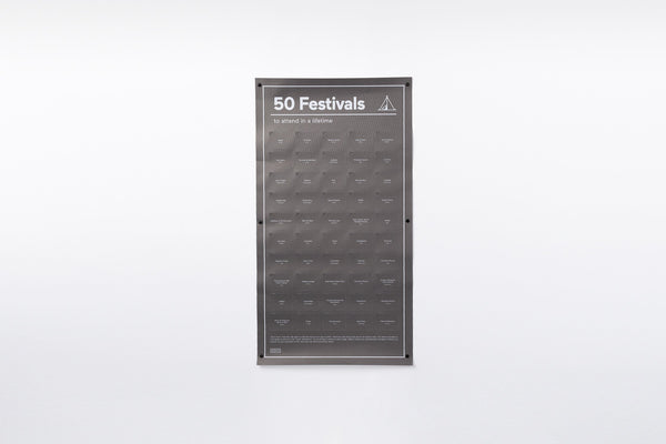 DOIY Must-Do Poster - 50 Festivals to attend in a lifetime
