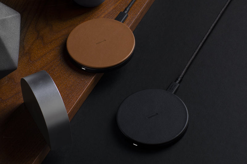 Native Union Drop Classic Leather Wireless Charger Brown
