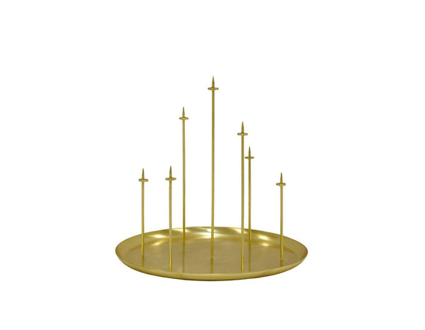 Eno Candleholder multicandle pin brass