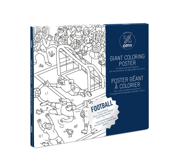 Omy giant coloring posters football