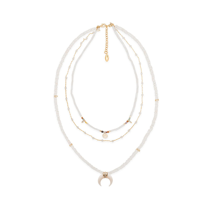 Geronimo multi rows necklace Hipanema
