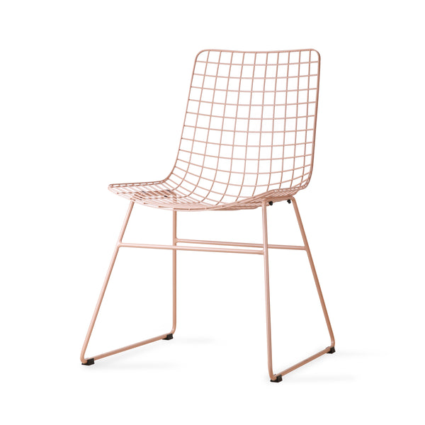 HK Living Dining Chair Metal Wire Peach