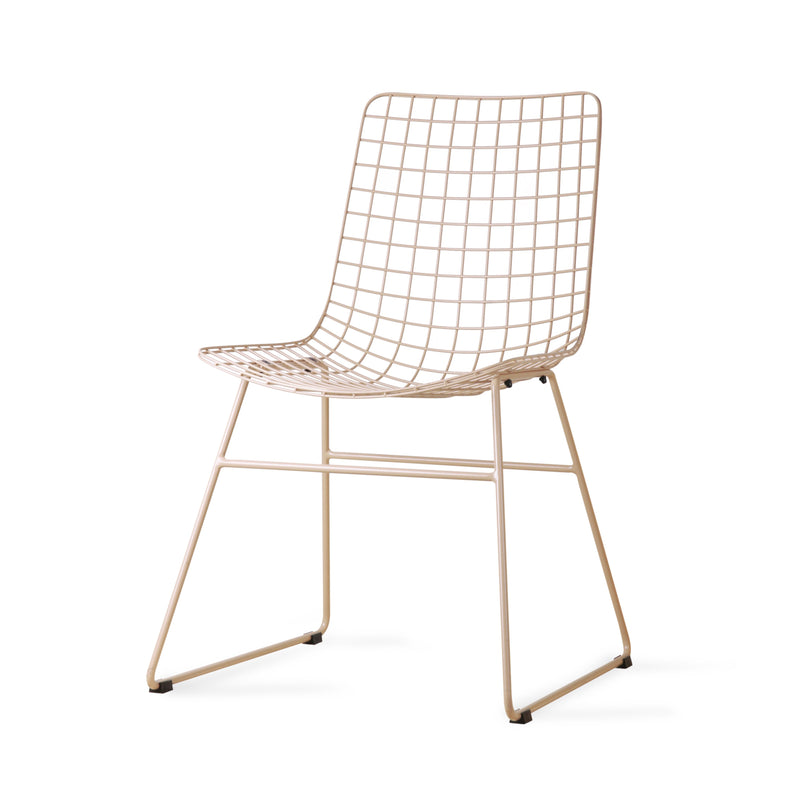 HK Living Dining Chair Metal Wire Skin
