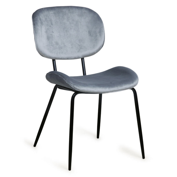 HK Living Dining Chair Velvet Grey