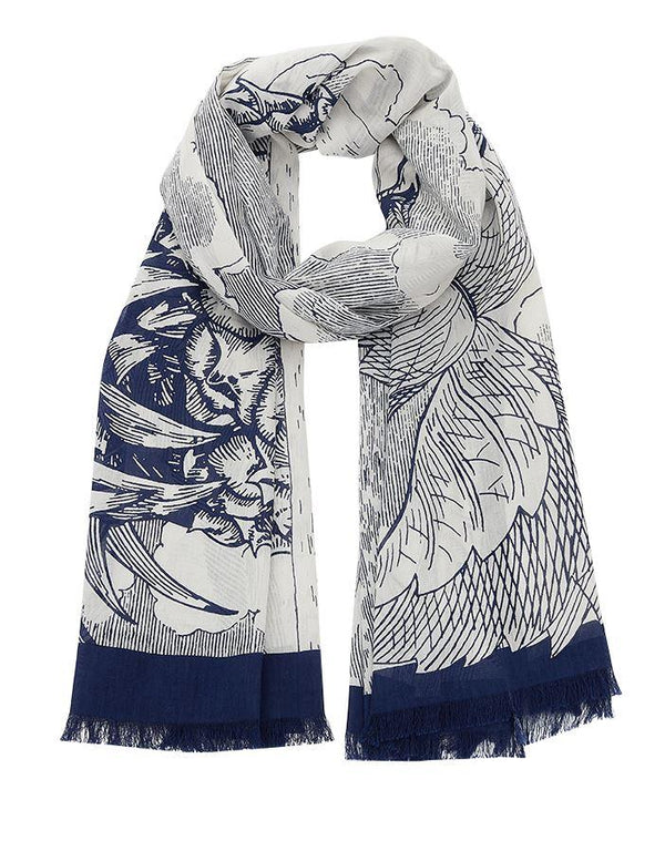 Inouitoosh spring summer collection scarves hesperides white