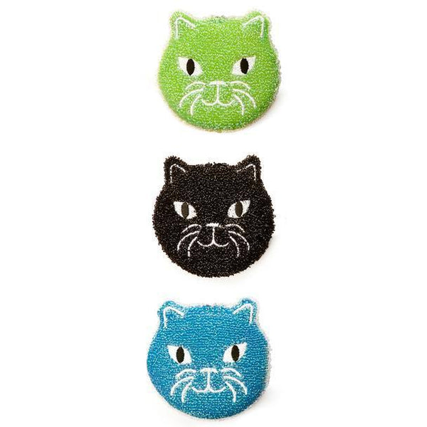Kikkerland Kitty Scrub Sponges
