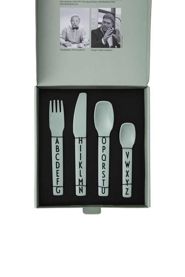 Design Letters Kids Cutlery, Green