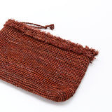 Naturellement handcrafted natural straw pouch Mirado