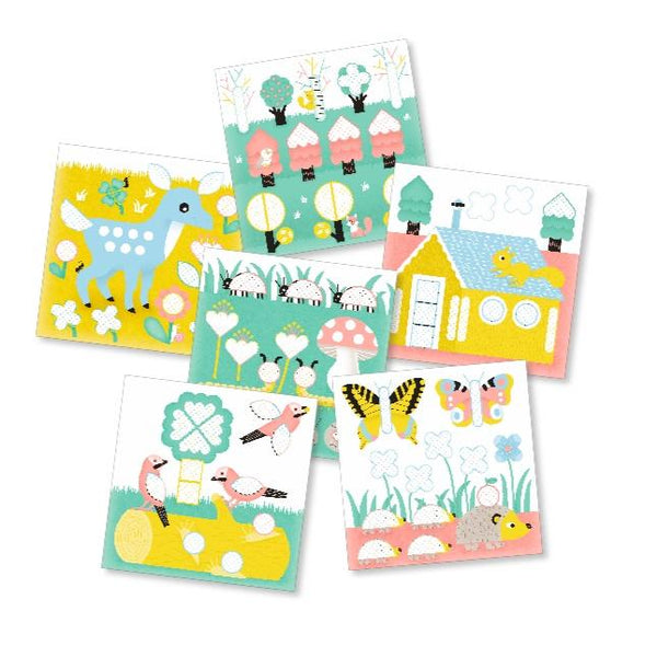 Poppik collection my first stickers forest