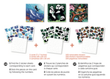 Poppik collection stickers puzzle wild animals